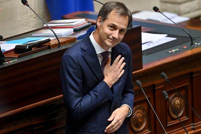 Alexander De Croo a rendu hommage au personnel soignant lors de son discours de politique générale.