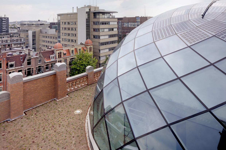 De koepel van de Diamantbeurs is een panorama, wekt energie op en is een lust voor het oog.