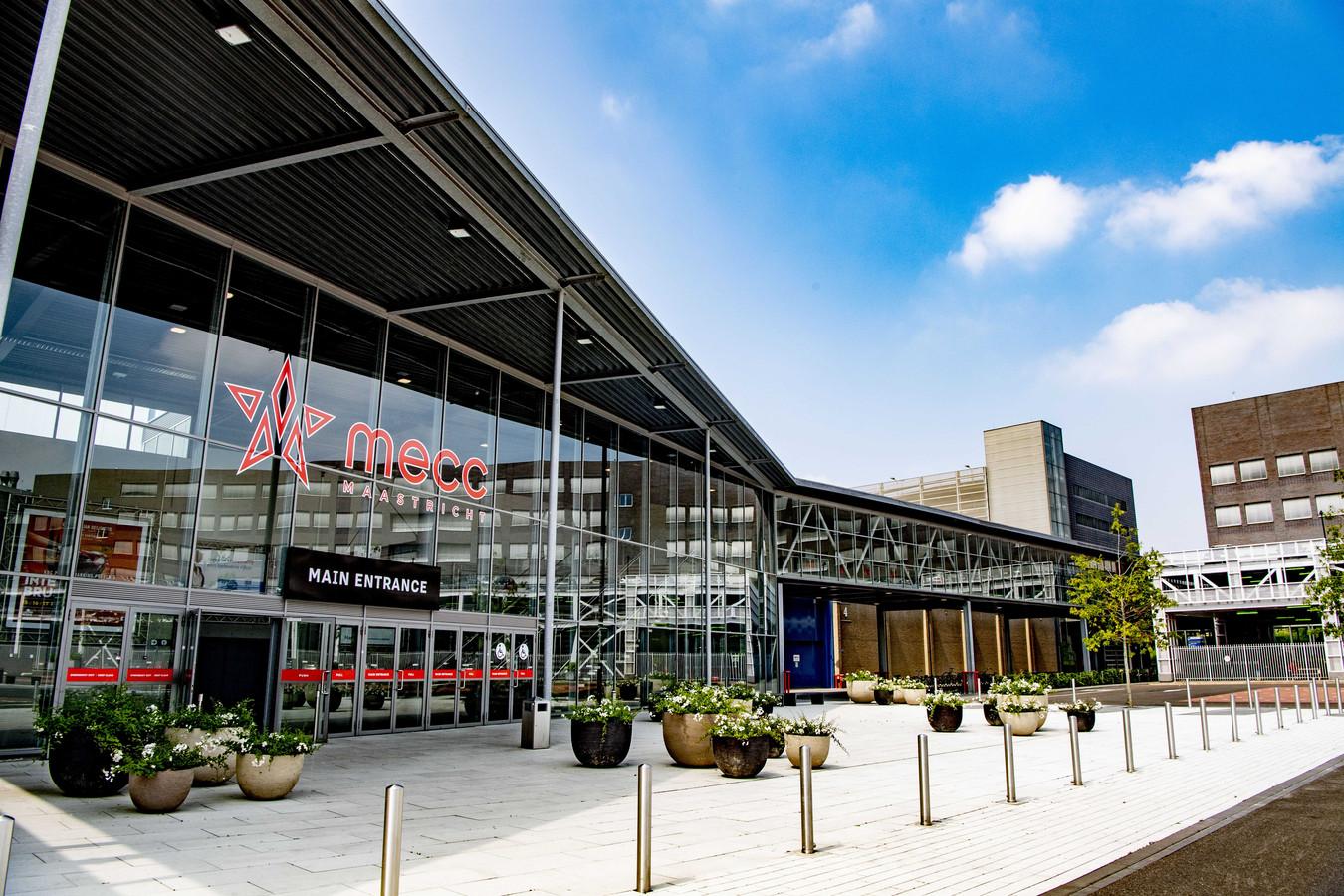 Congrescentrum MECC in Maastricht. De stad is samen met Rotterdam overgebleven als laatste kandidaat voor het Songfestival.