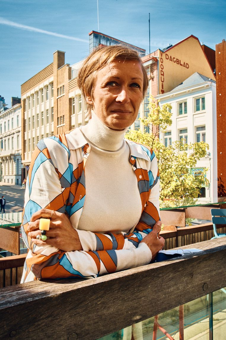 Communicatieverantwoordelijke Mieke Dumont: 'Zonder ons publiek en zonder de Gentenaars is de Vooruit er niet.' Beeld Thomas Nolf