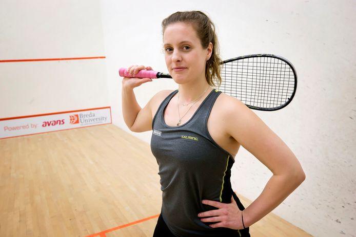 Tessa ter Sluis, squashster uit Sint Willebrord.