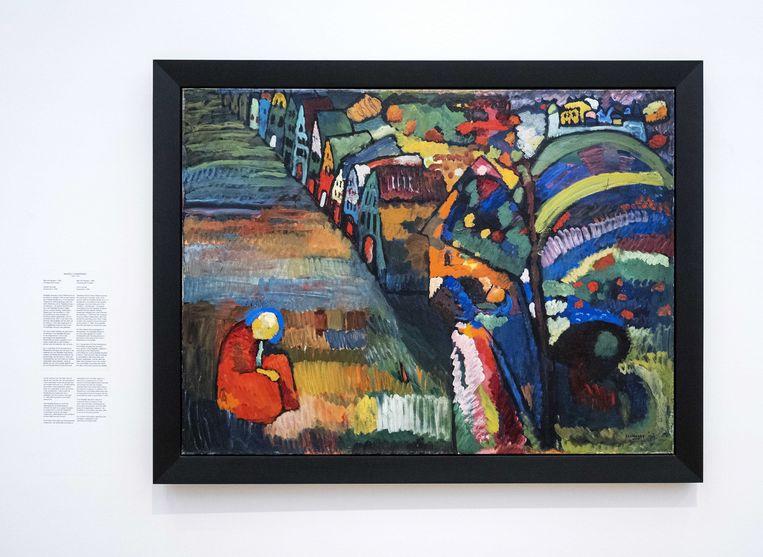 Het schilderij Bild mit Häusern van Wassily Kandinsky.  Beeld EPA