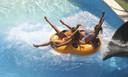 De glijbaan 'Black Hole' in het park Aqualand in Torremolinos is nog steeds in gebruik.