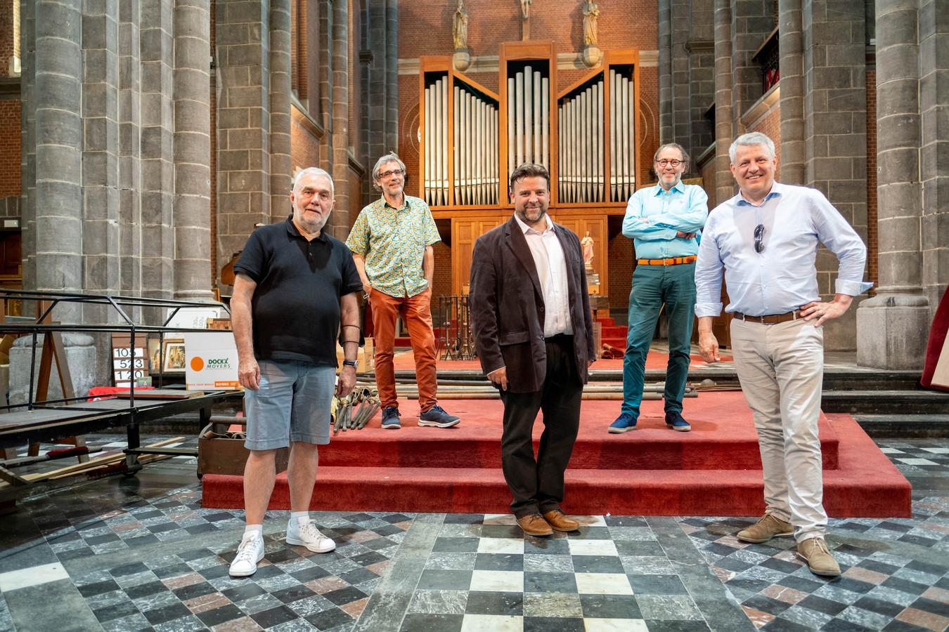 Eric Stroobants, Marc Van Camp, Björn Siffer, Henk Van Nieuwenhove en Koen Anciaux
