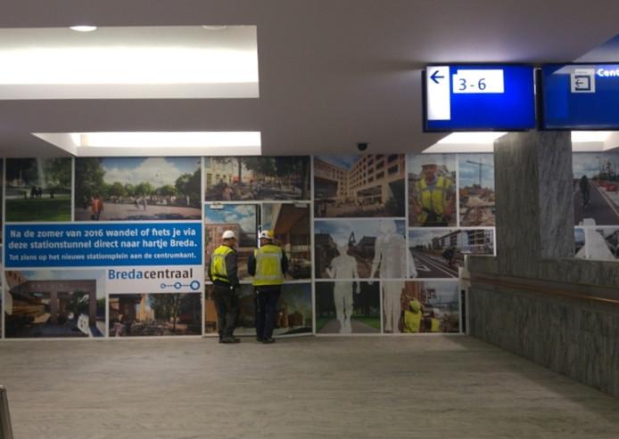 De tekst die nu in het station hangt is duidelijk: er mag straks gefietst worden.