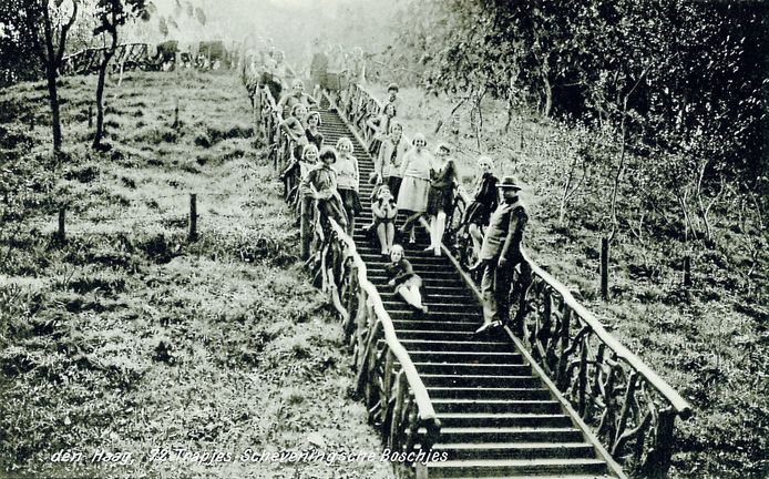 De '72 trapjes' op de Kogelenberg in 1934.