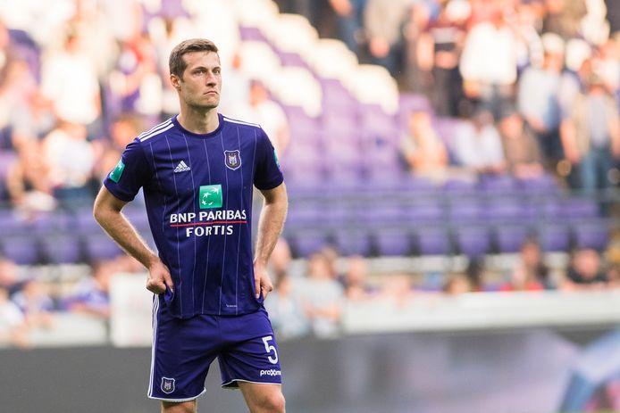 2018: Uros Spajic als verdediger van Anderlecht.