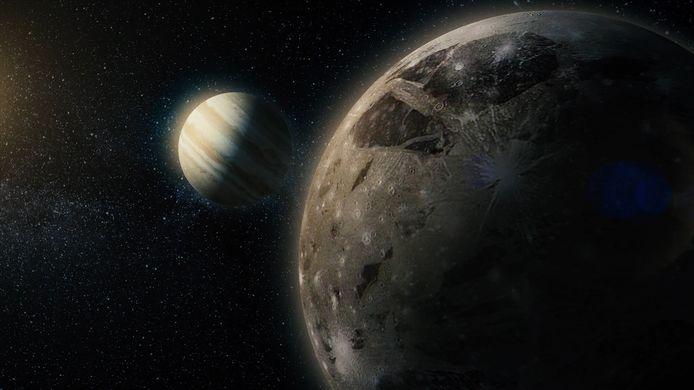 Jupitermaan Europa.