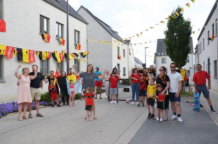 De bewoners van de nieuwe wijk Populierenhof in Ninove hebben hun beste beentje voorgezet om de straten volledig in EK-sfeer te hullen.