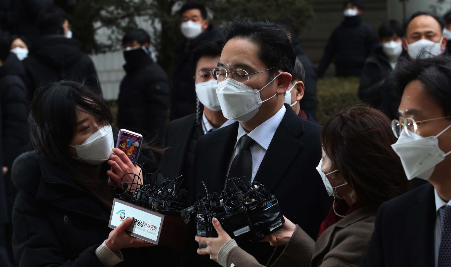 Lee Jae-yong à son arivée au tribunal ce 18 janvier.