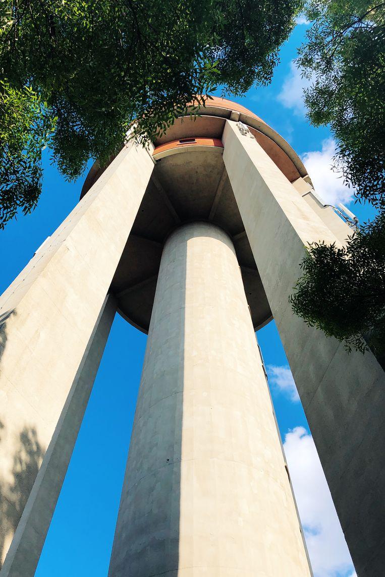 De watertoren in de Maïsstraat staat midden in een stadspark. Beeld Freek Evers