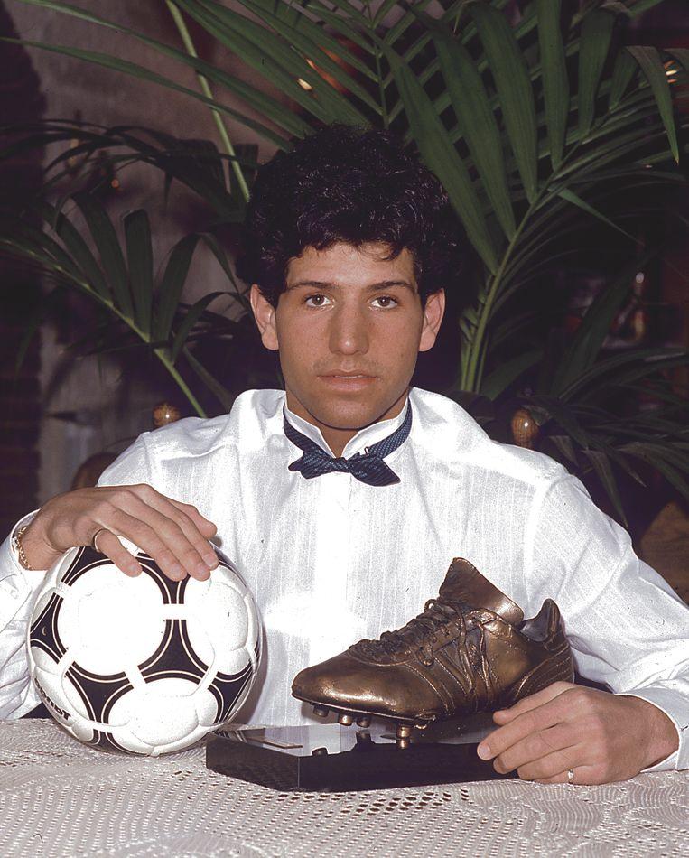 Een erg jonge Enzo Scifo in 1984.