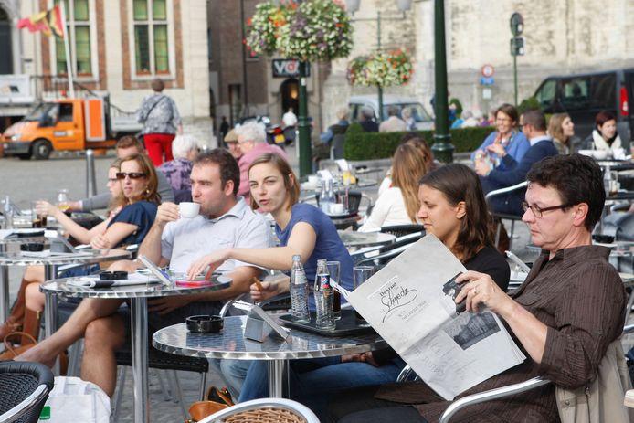 Vanaf 8 mei kan je weer terrassen in Diest.