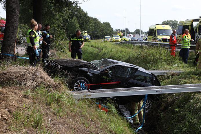Ernstig ongeluk op de A58 bij Oirschot.
