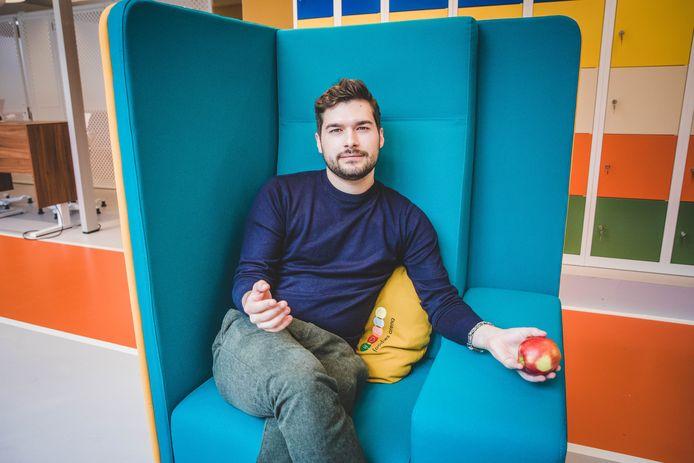 Sacha Barbieaux, genomineerd als Student-Ondernemer van het Jaar.
