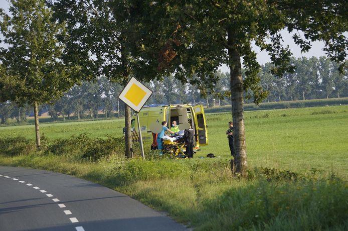 De motorrijder raakte donderdagmiddag gewond bij een eenzijdig ongeluk in Overloon