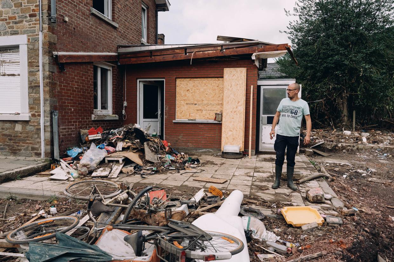 Ravage in Trooz.  Beeld Wouter Van Vooren
