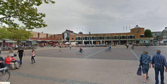 Het koopmansplein in Assen, daar stond tijdens de vorige editie van het TT-festival het hoofdpodium.