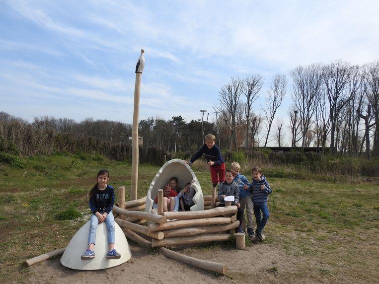 Nieuwe, educatieve speeltuigen in het Zwin