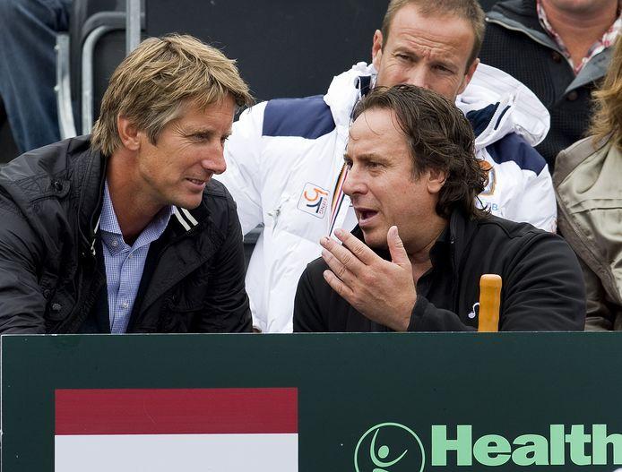 Edwin van der Sar (l) met Marco Borsato.