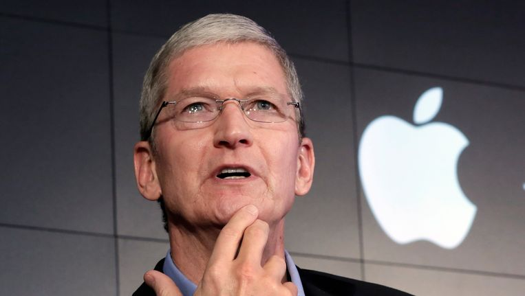 Apple-topman Tim Cook. Beeld AP