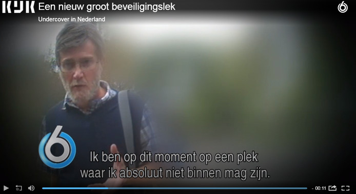 Screenshot uitzending Undercover in Nederland