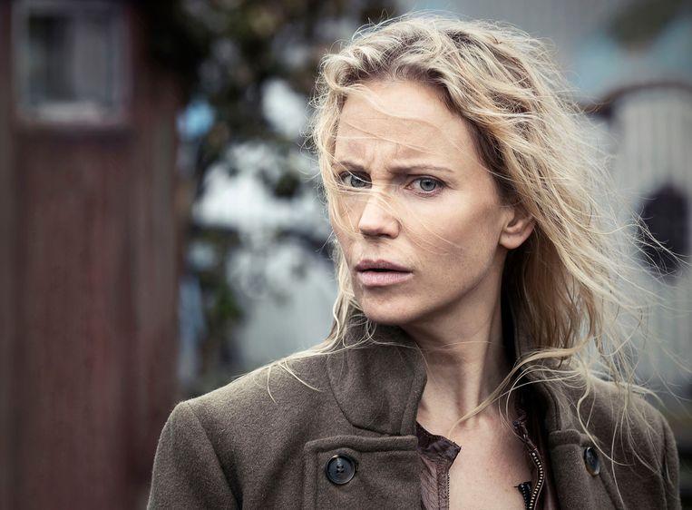 Sofia Helin als Saga in The Bridge. Beeld BBC/ZDF/Carolina Romare