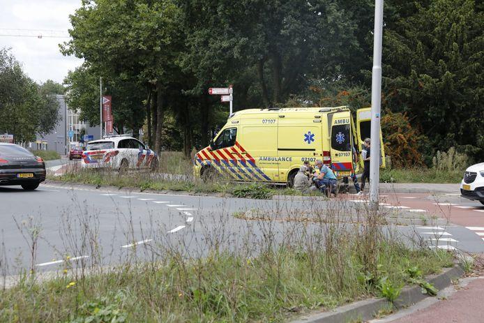 Het ongeluk aan de rotonde op de Molenstraat in Ede