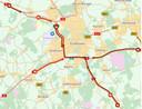 Grote vertraging rondom Eindhoven.