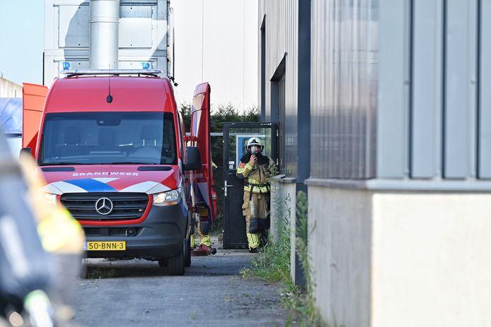 Een speciaal brandweerteam rukt uit bij de aanmaakblokjes fabriek Fire-Up in Oisterwijk