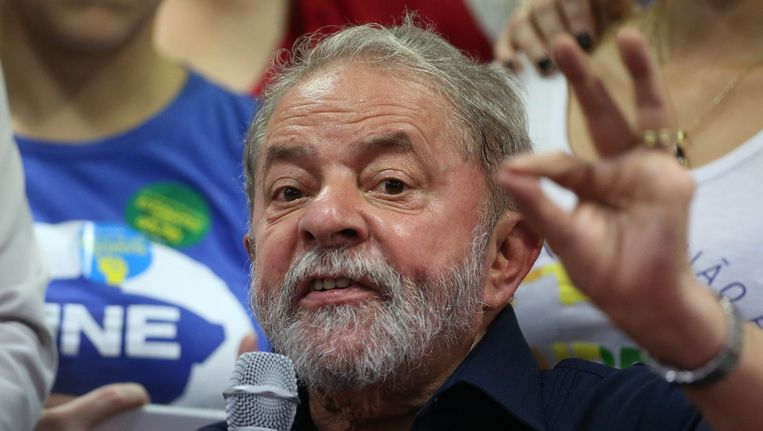 De omstreden Braziliaanse oud-president Luiz Inácio Lula da Silva. Beeld epa