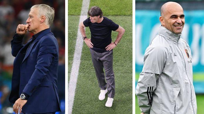 Didier Deschamps, Joachim Löw et Roberto Martinez.