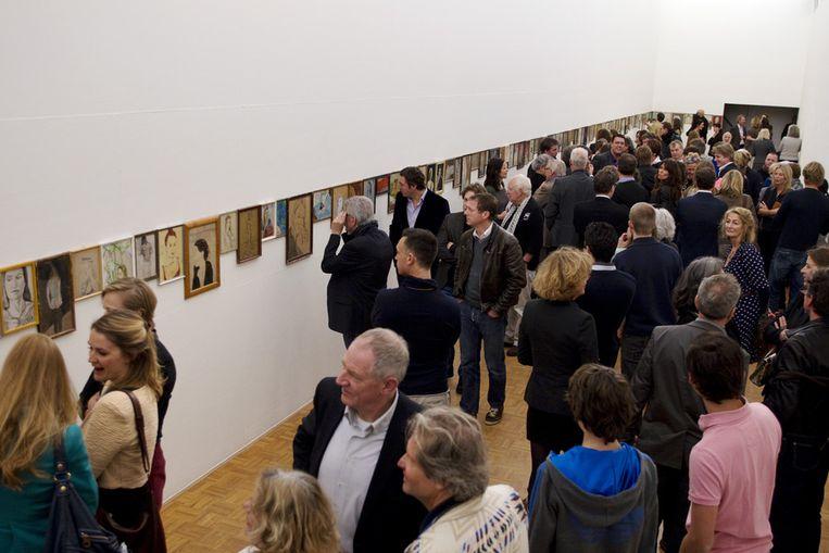 230 werken van Jasper Krabbé hangen in de Kunsthal in Rotterdam. <br /> Beeld