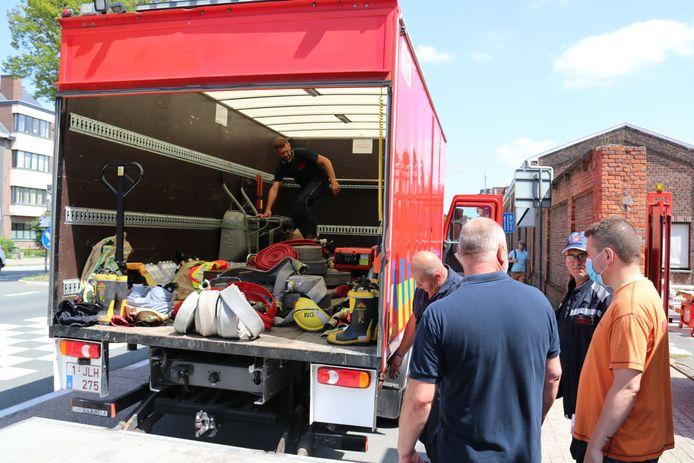 De brandweerzone is opnieuw naar Luik vertrokken om te gaan helpen.