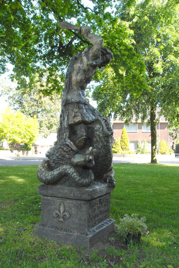 het monument aan de Willem van Oranjelaan