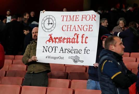 Veel fans van de Gunners zijn klaar met Wenger.