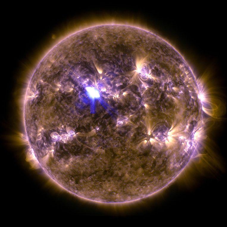 De sterkste zonnevlam van 2013 (tot nu toe). Beeld NASA