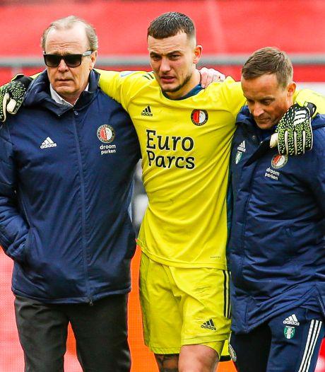 Bijlow laat Feyenoord schrikken: 'Hij kan gelukkig weer zelf lopen'