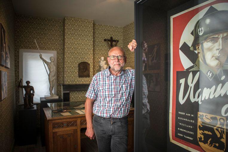 Leo Bonte, verantwoordelijk voor de herdenkingscampagne 'Alveringem Confronteert', weet dat de discussie gevoelig ligt bij de oudere generatie.  Beeld Jan De Meuleneir