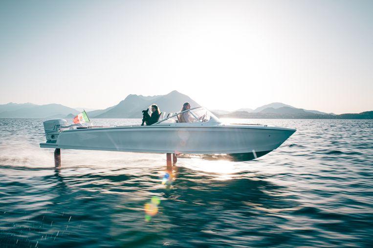 Is het een boot, is het een vliegtuig? Het is de Candela C-7. Beeld rv