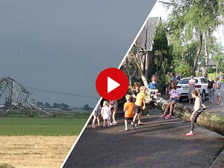 Video van de Dag | Storm laat spoor van vernieling achter in Oost-Nederland