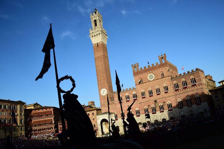 De Piazza de Campo in Siena. Beeld AFP