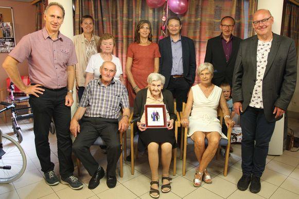 MOORSELE - Emma Scheldeman, toen ze haar 100ste verjaardag vierde.
