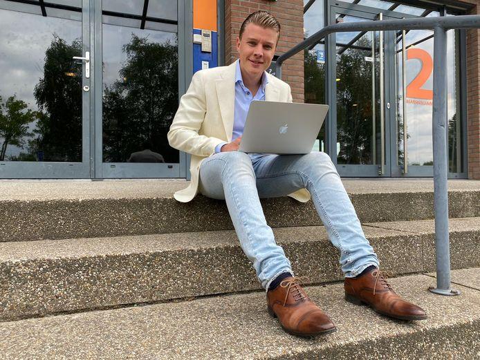 """Maurits Romberg is tegen alle stromen in zijn eigen bedrijf begonnen. ,,Misschien is het wel juist nu een goed idee..."""""""