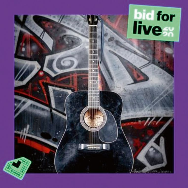 De gitaar van Paul Severs Beeld Humo