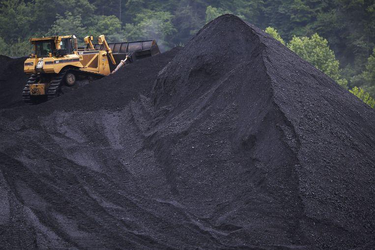 Een berg steenkool in de Amerikaanse staat Kentucky. Beeld AFP
