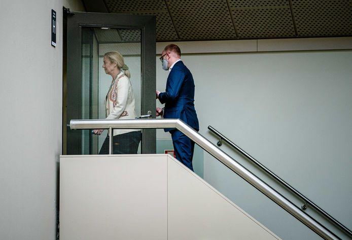 D66-leider Sigrid Kaag geeft een reactie op het opstappen van Kamerlid Sidney Smeets.