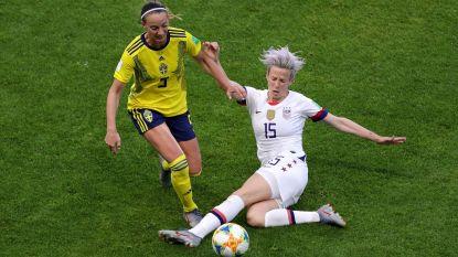 Amerikaanse titelverdedigers ook te sterk voor Zweden, Kameroen in achtste finales