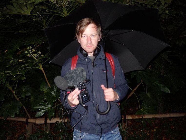 Botte Jellema heeft tijdens de wandeltocht al een item gemaakt voor Radio 4 Beeld Schuim