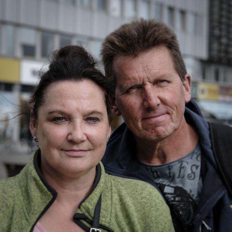 Marina en Dietmar Nolte stemmen CDU. Beeld Daniel Rosenthal
